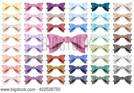Bows Clip Art, Satin Effect, Digital Satin Bows, Ribbon Clipart