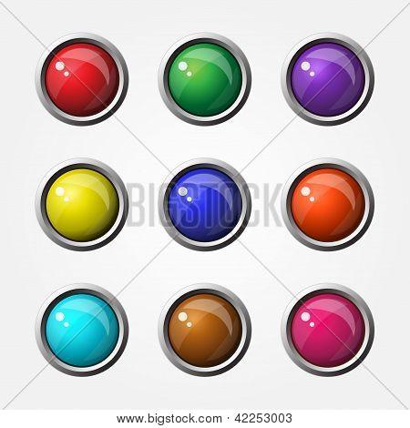 High Glossy Round Button