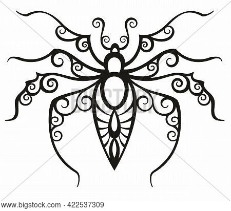 Tattoo Spider For Your Design. Tattoo Tribal Vector Design