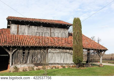 Old Tilery In Saint Paul De Varax, France Called Carronière In French Language