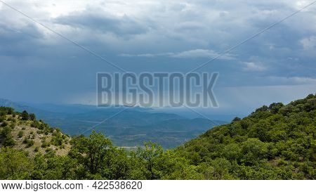 View Of The Black Sea Coast From The Top Of The Plateau.