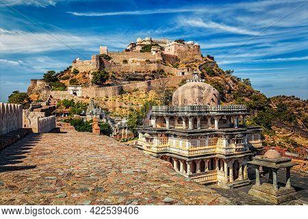 Kumbhalgarh Fort Indian Tourist Landmark. Rajasthan, India