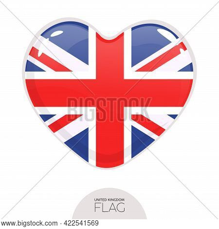 Isolated Flag Great Britain In Heart Symbol Vector Illustration