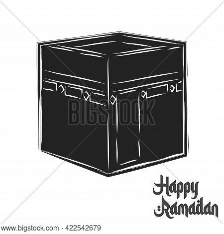 Isolated Box Symbol Ramadan Kareem Draw Black Muslim Holy Vector Illustration