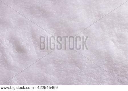 White Plush Texture Background - Top View