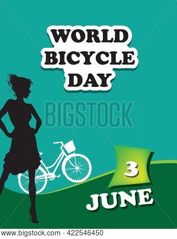Poster World Bicycle Day.vector Illustration For A Holiday Date In June