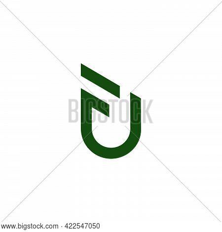 Letter Fu Simple Lines Geometric Badge Symbol Vector