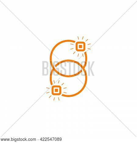Abstract Number 8 Linked Rings Design Symbol Logo Vector