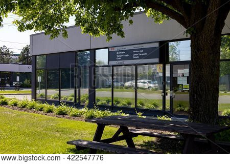 Ottawa, Ontario, Canada - May 31, 2021: A Transport Canada Civil Aviation Service Centre In The Came