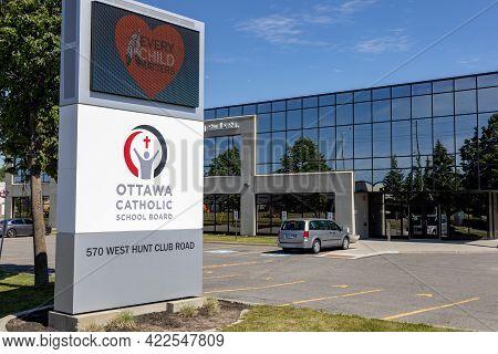 Ottawa, Ontario, Canada - May 31, 2021: The Catholic Education Center Of The Ottawa Catholic School