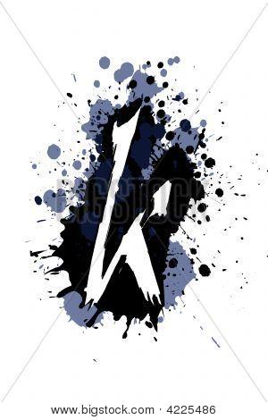 Grunge abeceda K