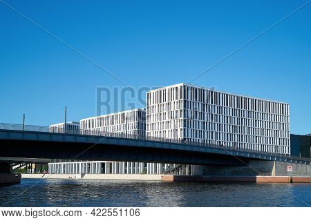 Berlin, Germany - May 31, 2020: Modern Office Building Of Pwc Gmbh (lawyer And Business Consultant)