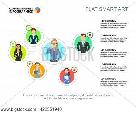 Staff Interaction Slide Template. Business Data. Graph, Chart, Design. Creative Concept For Infograp