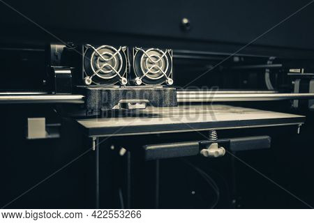Objects Printed By 3d Printer. Automatic Three Dimensional 3d Printer