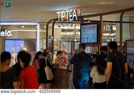 Bangkok, Thailand - 28 Dec 2020, Tp Tea By Chun Shui Tang (taiwan Milk Tea) Was Launched Retail Shop