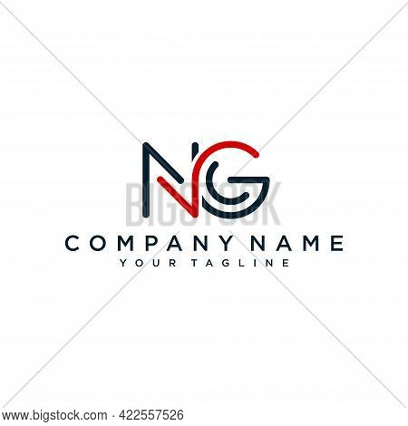 Initial Letter Ng Logo Design Template Vector
