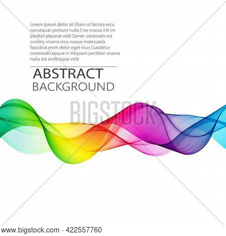 Vector Abstract Smoky Transparent Waves Background. Template Brochure Design