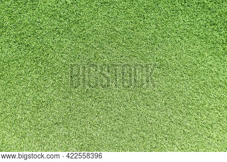 Green Grass Texture Background. Top View Of Bright Grass Garden. Lawn For Training Football Pitch, G