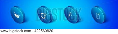 Set Isometric Medical Protective Mask, Leaf Or Leaves, Laboratory Glassware Beaker And Petri Dish Wi
