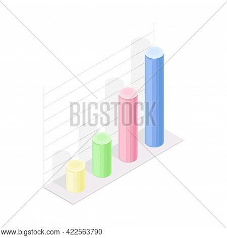 Isometric Infographic As Graphic Visual Representation Of Information Or Data Vector Illustration