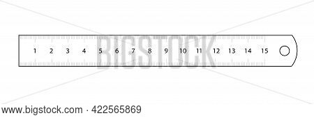 Ruler. Measuring Tool And Instrument For High-precision Measurements For Industry  And Business. Vec