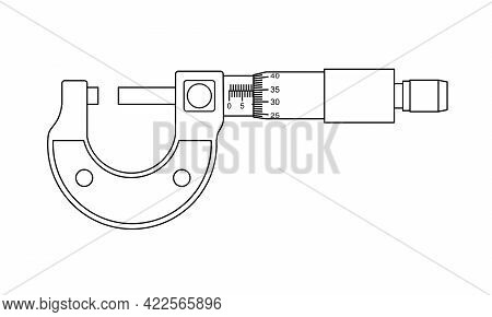 Micrometer. Measuring Tool And Instrument For High-precision Measurements For Industry  And Business