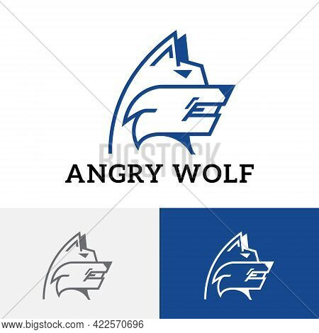 Angry Wolf Wild Animal Guard Watchdog Fierce Dog Logo