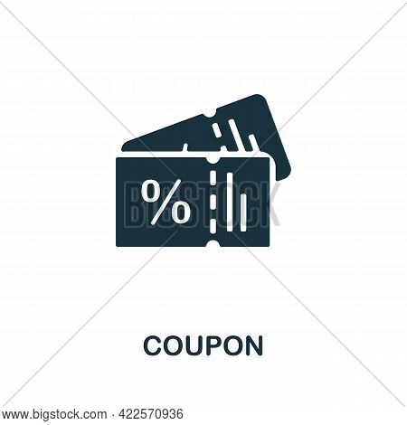 Coupon Icon. Monochrome Simple Element From Mall Collection. Creative Coupon Icon For Web Design, Te
