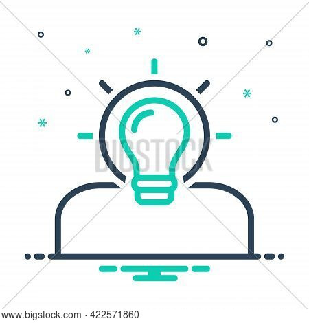 Mix Icon For Idea Find-a-solution Creative Concept Innovate Human Inspiration Thinking Finding Solut