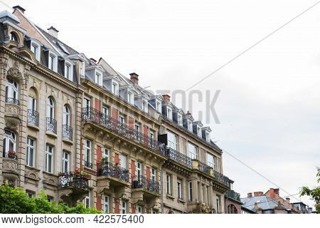 Luxury Apartment Buildings With Art Deco And Haussmannian Architecture In Central Strasbourg - Frenc