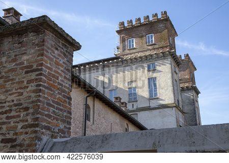 Robecco Sul Naviglio ( Mi ), Italy - April 01, 2021: Palazzo Archinto At Robecco Sul Naviglio Town A