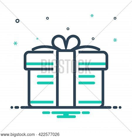 Mix Icon For Gift Present Keepsake Fairing Bounty Giftbox Package Parcel Ribbon
