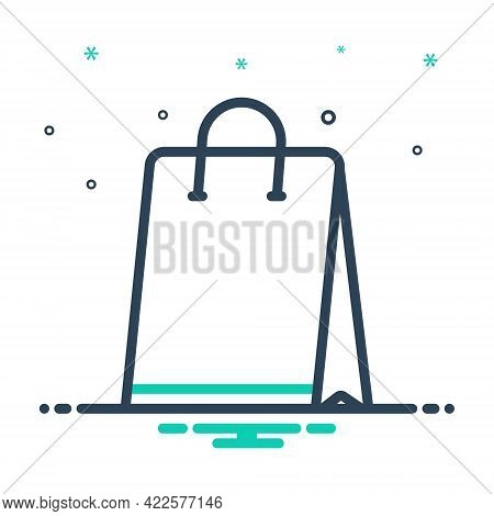 Mix Icon For Shopping-bag Shopping Bag Buy Container Commerce Packaging Paper Shopper Merchandise Lu