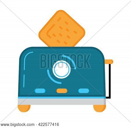 Toaster Flat Icon Vector. Kitchen Small Appliances Flat Sign.