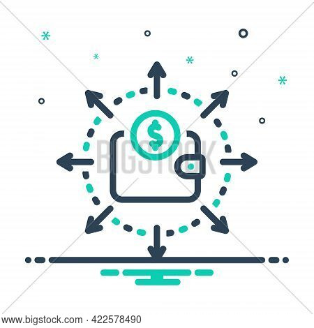 Mix Icon For Budget-spending Budget Spending Expense Accounting Balance Cash Investment Management S