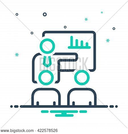 Mix Icon For Company-meeting Confrontation Presentation Business Manifestation Concept Conference Co