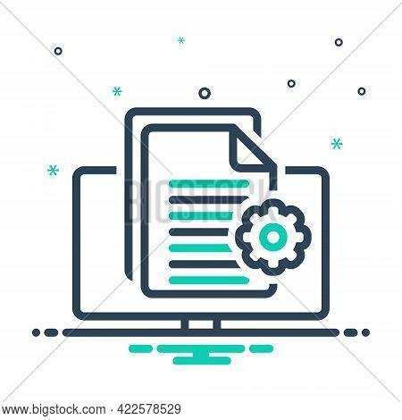 Mix Icon For Content-management Content Management Executive Authority Document