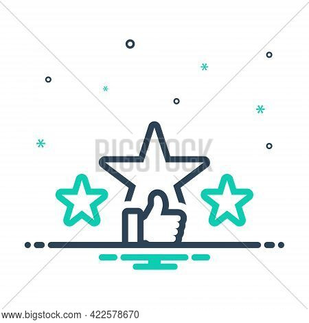 Mix Icon For Rating Star Ranking Valuation Favorite Feedback Review Like Satisfaction Excellent Choi