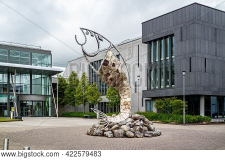 Sligo, Ireland - May 25 2021 : The Institute Of Technology Is Open During The Pandemic