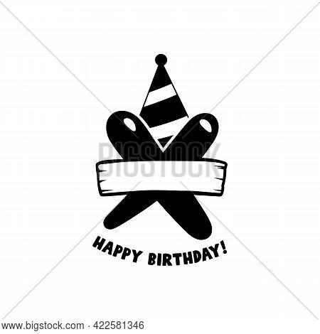 Initial Birthday X Letter. Happy Birthday Monogram Design With Balloons. Alphabet X Template. Stock