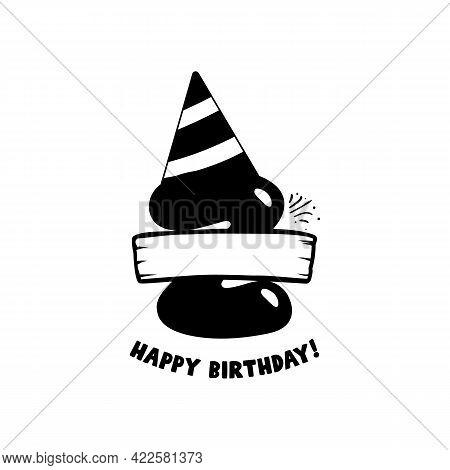 Initial Birthday Z Letter. Happy Birthday Monogram Design With Balloons. Alphabet Z Template. Stock