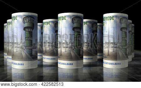 Danish Krona Money Banknotes Pack Illustration