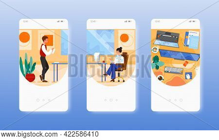 Company Director. Office People, Workplace. Mobile App Screens, Vector Website Banner Template. Ui,