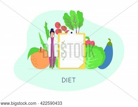 Healthy Food And Diet Planning, Diet, Food.  Healthy Food And Dieting Concept. Plan Your Meal Infogr