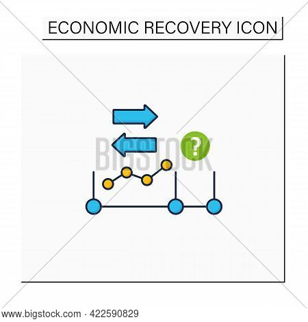 Initial Expansion Color Icon. Economy Increase. Profitable Business Development, Growth. Extension.