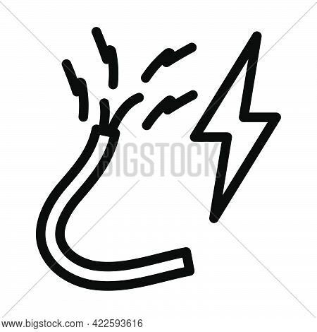 Icon Of Wire. Editable Bold Outline Design. Vector Illustration.