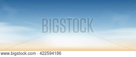 Blue Sky With Altostratus Clouds Background,vector Cartoon Sky With Cirrus Clouds,concept All Season