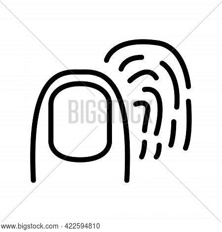 Biometric Flat Line Icon. Vector Outline Illustration Of Fingerprint, Security. Black Color Thin Lin