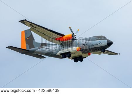 Wunstorf / Germany - June 03, 2021:  Transall C160 In Special Paint On The Air Base In Wunstorf.