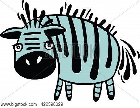 Cartoon Zebra Head, Animal Head.animal Sticker. Animal Children